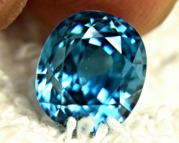 CERTIFIED - 7.38 Carat VVS1 Swiss Blue Zircon - Superb