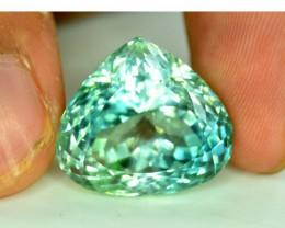 No Reserve - 30 cts Curved Trillion Cut Green Spodumene Gemstone From Afgha