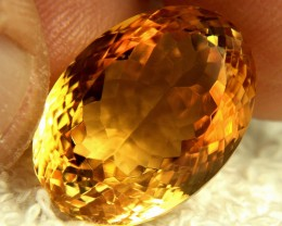 22.92 Carat Fiery VVS1 Brazilian Citrine - Superb