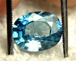 5.66 Carat Southeast Asian Blue VVS Zircon - Gorgeous