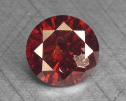 0.13 Ct Natural Fancy Red Diamond Round Africa