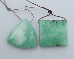 75ct Special Offer Natural Green Turquoise Pendant 2Pcs (18062603)