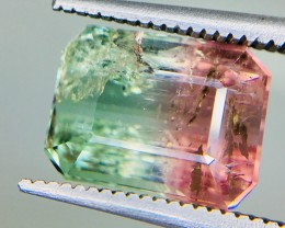 5.0 Crt Natural Bi Colour Tourmaline Faceted Gemstone