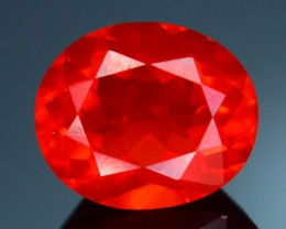 Rare 2.15 ct Saturated Reddish Mexican Fire opal SKU.4