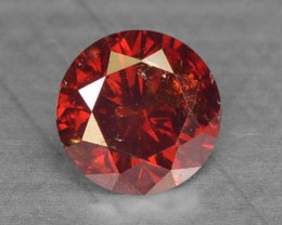 0.16 Cts Natural Fancy Red Diamond Round Africa