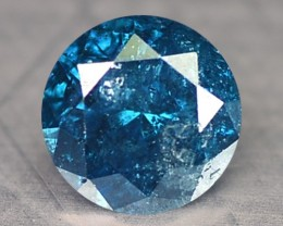 0.17 Cts Natural Fancy Blue Diamond Round Africa