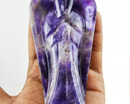 Genuine 1230.50 Cts Bi-Color Amethyst Carved Healing Angel