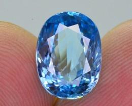 4.70 Ct Amazing Vibrant Natural Blue Zircon ~ ARA