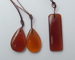 26ct Special Offer Natural Red Agate Water Drop Earring Pair And Pendant 1