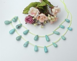 26.6g  Precious Gift Natural Teardrop Turquoise Necklace (18062711)