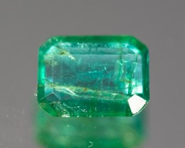 Green Emerald  0.80 ct Zambia GPC Lab
