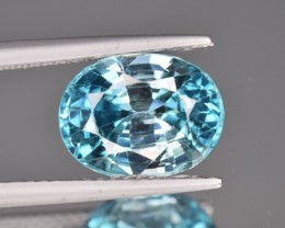 Natural Blue Zircon 5.81 Cts from Combodia
