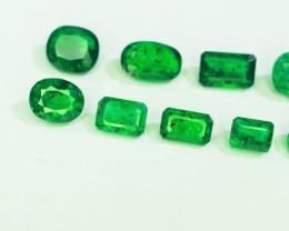 Top Grade 6.05 Ct Green Emerald Lot 10 Pcs~ Swat