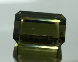 24.48 CT GREEN TOURMALINE FACETED CUT GEMSTONE GT4
