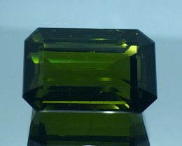 17.90 CT NATURAL GREEN TOURMALINE FACETED CUT GEMSTONE GT5