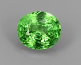 NATURAL EARTH MINED RARE HUGE BEAUTIFUL GREEN TSAVORITE GARNET $600.00
