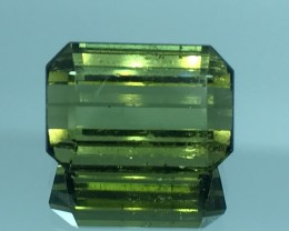 7.06 CT NATURAL GREEN TOURMALINE FACETED CUT GEMSTONE GT14