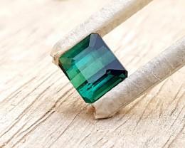 1.85 Ct Natural Blueish Green Semi Transparent Tourmaline Gem