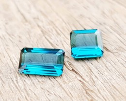 1.70 Ct Natural Flawless Indicolite Tourmaline Pair Gemstones