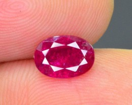 1.45 Ct Mind Blowing Color Natural Tajikistan Ruby ~ HJ