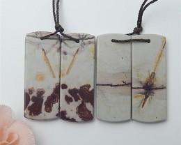 74.5ct Special Price Natural Chohua Jasper Earring 2Pair(18062806)
