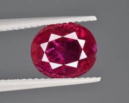 Natural Ruby 3.21 Cts, No Heat, from Afghanistan