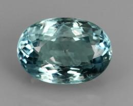 1.14 Cts Sparkling Luster - Oval Gem - Natural Blue -Aquamarine NR!!!