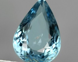 Sparkling Luster -Pear Gem - Natural Blue -Aquamarine NR!!!
