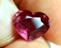 6.76 Carat Fiery Purple Red Ruby Heart - Gorgeous