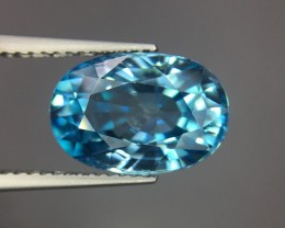 8.24 Cts Blue Zircon Awesome Color ~ Cambodia Pk31
