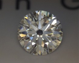 0.223 AGS Certified D VS2 Super Ideal Round Brilliant Loose Natural Diamond