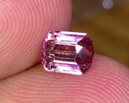 1.25 cts Pink/Red Tourmaline Gemstone - VVS