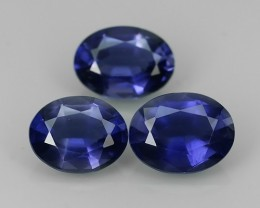 3.58 CTS GENUINE NATURAL ULTRA RARE LUSTER IOLITE OVAL NR!!!