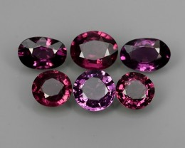5.61 CTS EXTREMELY FINE FIRE NATURAL PURPLE-VIOLET RHODOLITE  NR☆☆☆
