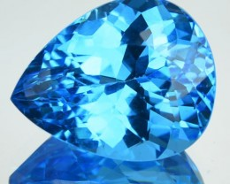 12.80 Cts Natural Swiss Blue Topaz Pear Cut Brazil Gem