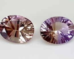 3.50Crt Fancy Ametrine Pair  Best Grade Gemstones JI 68