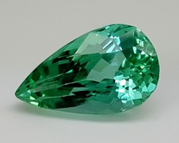 6.25Crt Green Spodumene  Best Grade Gemstones JI 68