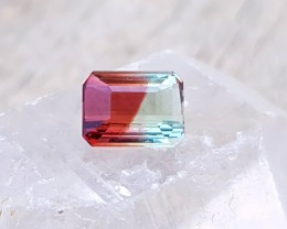 4.05 Ct Natural Bi Color Internally Flawless Unique Tourmaline Gemstone