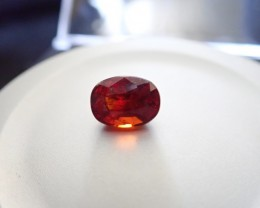 3.55 CT 100% Natural Orange Red Garnet Hessonite Faceted Cut