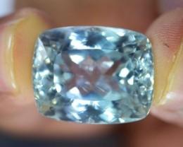NO Reserve 28.5 cts Flawless Aqua Blue Natural Kunzite Gemstone