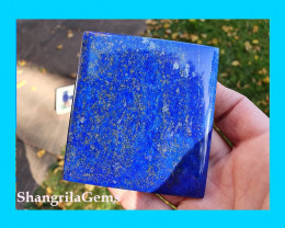 75mm Lapis Lazuli square cabochon blue with pyrite inclusions 486cts 75 by