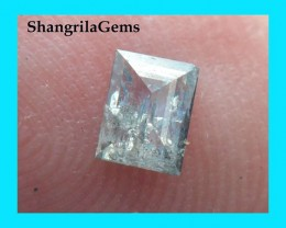 4.5mm 0.265ct salt pepper abd blue emerald cut rectangle diamond from Botsw