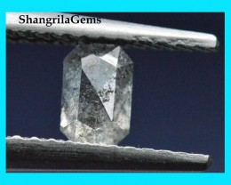 5.1mm 0.27ct salt pepper octagon rectangle diamond from Botswana