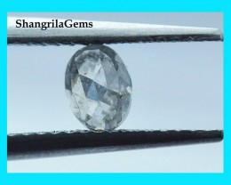 5.25mm 0.555ct salt pepper oval diamond 5.25 by 4 by 2.8mm from Botswana