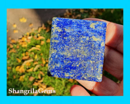 48mm Lapis Lazuli oblong square cabochon blue with pyrite inclusions 48 by