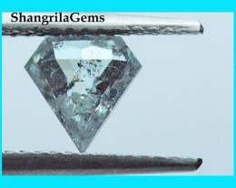 7mm 0.635ct salt pepper shield shape kite diamond from Botswana