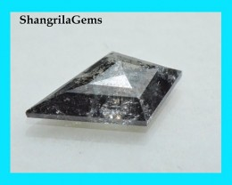 11.3mm 0.97ct Salt Pepper Kite diamond from Botswana