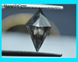 12mm 0.87ct Salt Pepper Kite diamond from Botswana