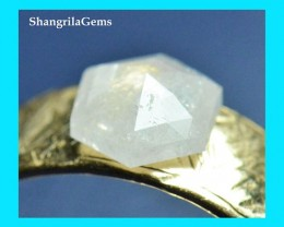 7.1mm Hexagon Rose cut diamond ice white 1.025ct