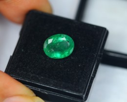 3.15ct Natural Zambia Emerald Oval Cut Lot V1674